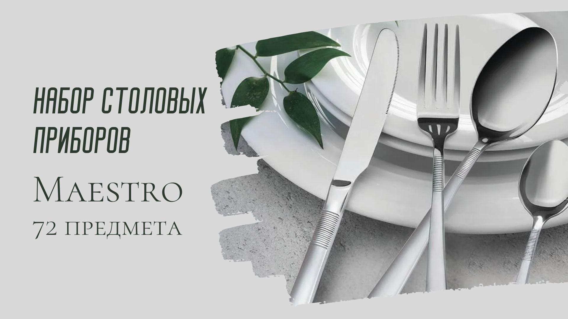 НАБОР СТОЛОВЫХ ПРИБОРОВ MAESTRO 72 ПРЕДМЕТА